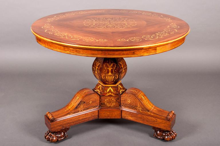 gu ridon cible charles x palissandre galerie richard juy mobilier antiquit s et pendules d. Black Bedroom Furniture Sets. Home Design Ideas