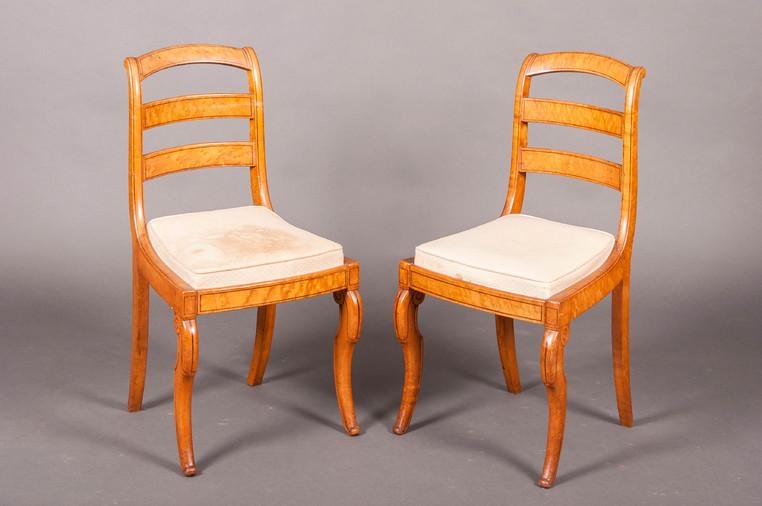paire de chaises barrettes charles x rable mouchet galerie richard juy mobilier. Black Bedroom Furniture Sets. Home Design Ideas
